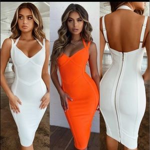New orange bandage dress
